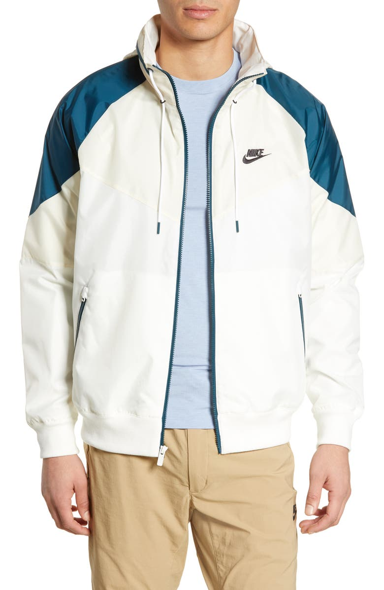 NIKE Windrunner Jacket, Main, color, SAIL/ LIGHT CREAM/ NIGHTSHADE