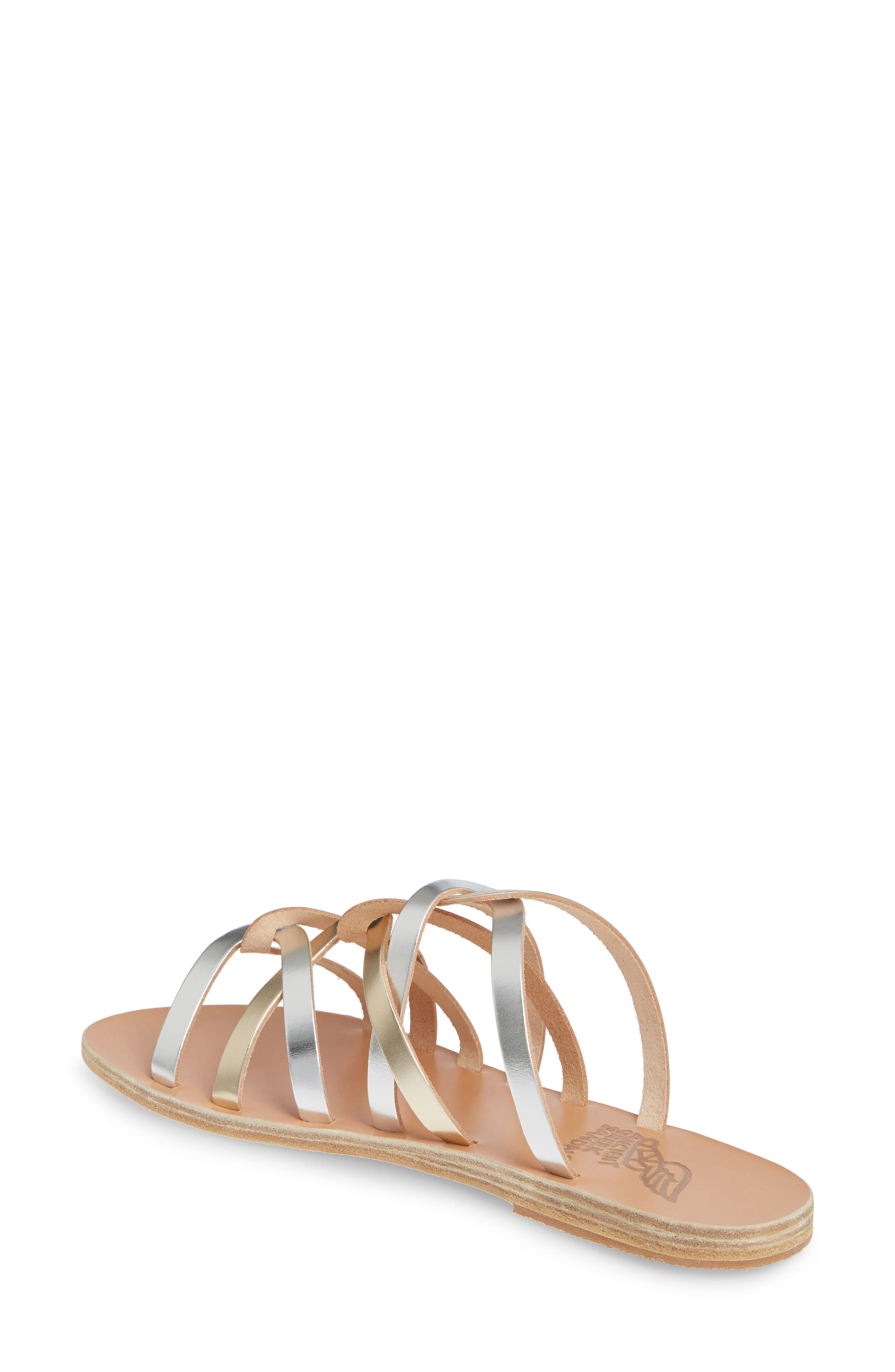 ,                             Donousa Slide Sandal,                             Alternate thumbnail 2, color,                             SILVER/ PLATINUM