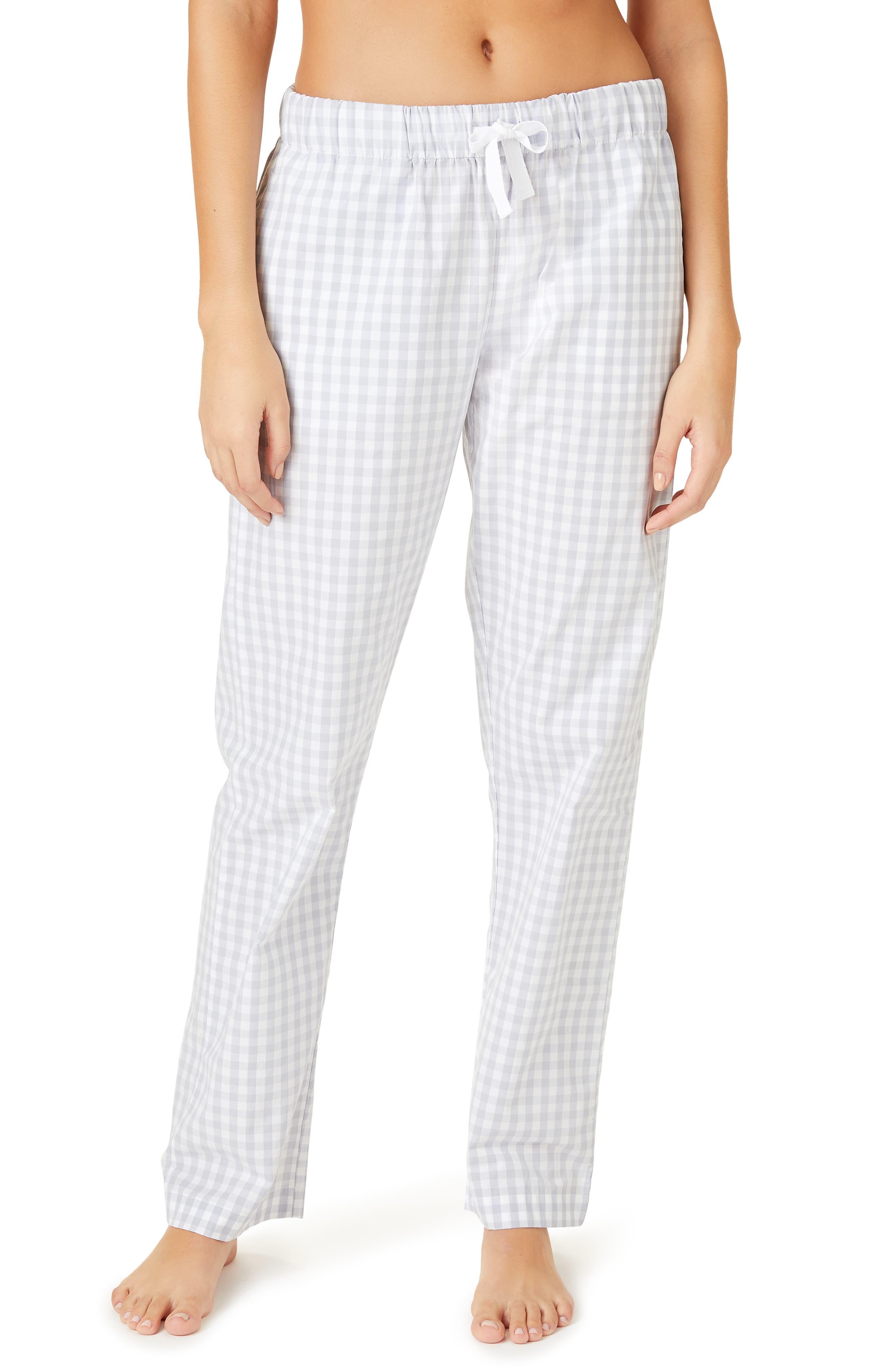 The White Company Cotton Flannel Pajama Pants, Blue