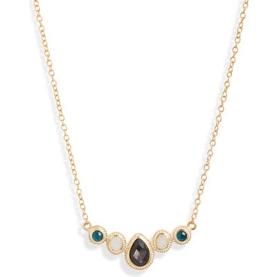 Anna Beck Multi Stone Cluster Necklace