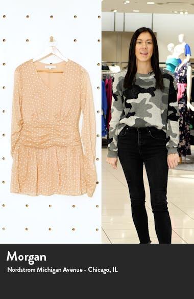 Polka Dot Long Sleeve Mesh Dress, sales video thumbnail
