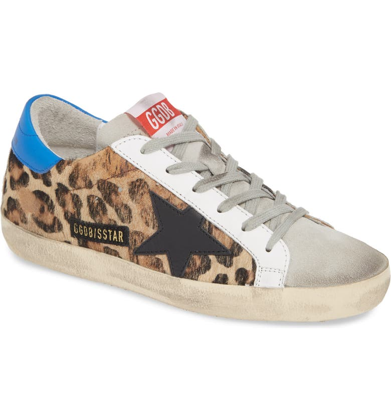 GOLDEN GOOSE Superstar Genuine Calf Hair Sneaker, Main, color, LEOPARD