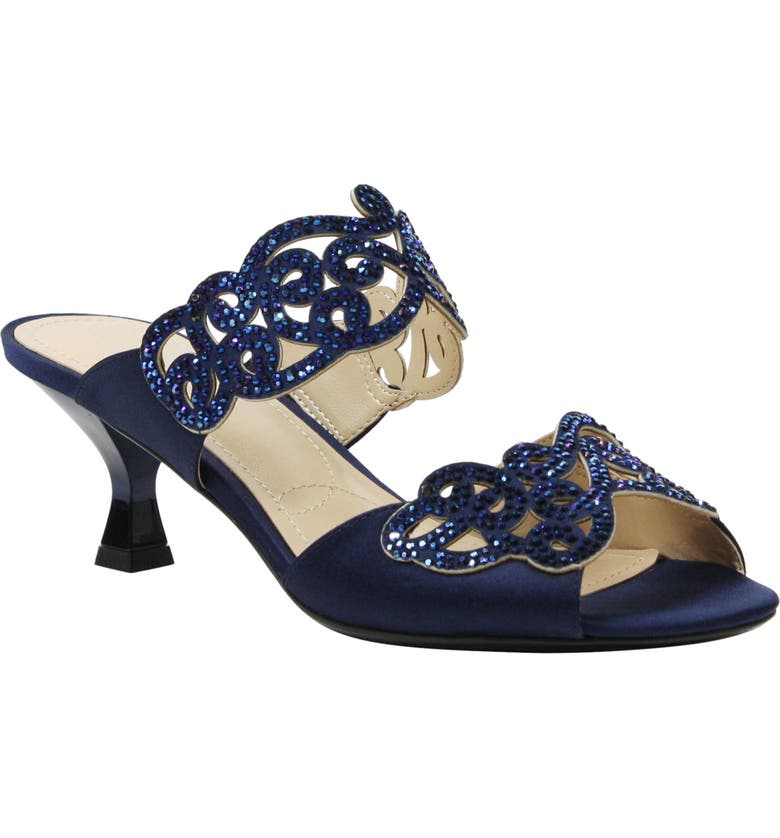 J. RENEÉ 'Francie' Evening Sandal, Main, color, NAVY FABRIC