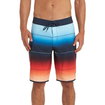 Billabong Stripe Pro Board Shorts, Orange