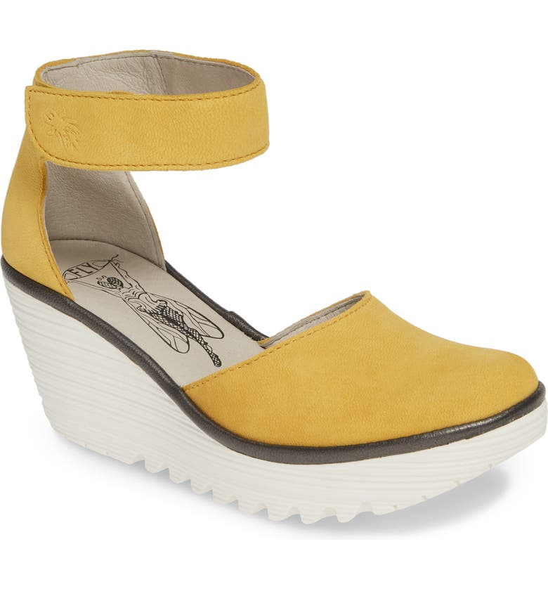 FLY LONDON Yand Wedge Pump, Main, color, BUMBLEBEE LEATHER