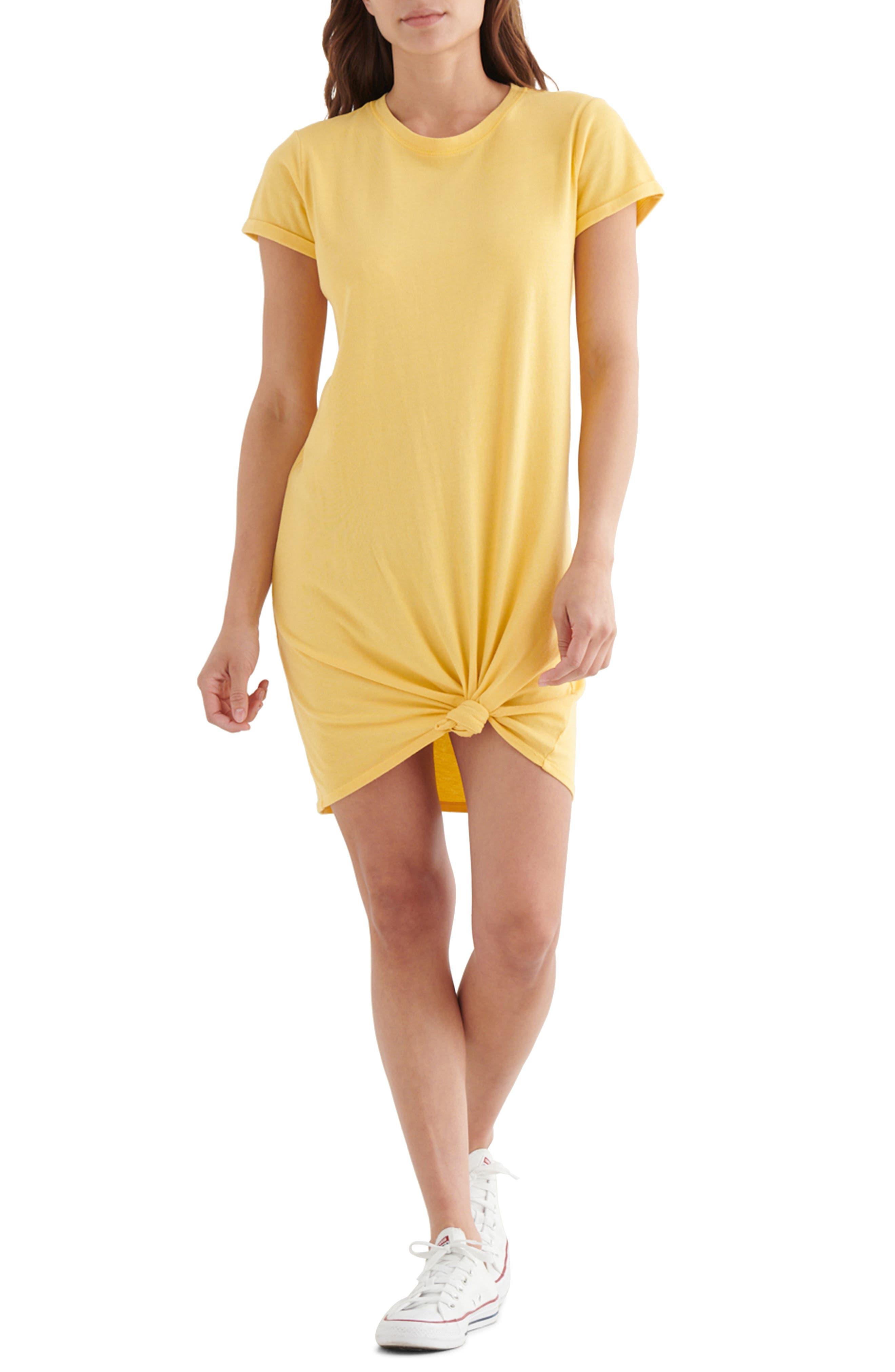 Twist Front Cotton & Modal T-Shirt Dress