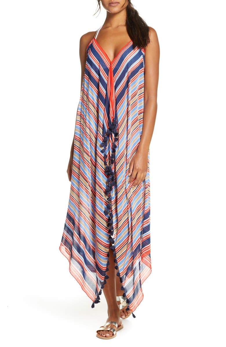 POOL TO PARTY Beach to Street Cover-Up Dress, Main, color, MULTI