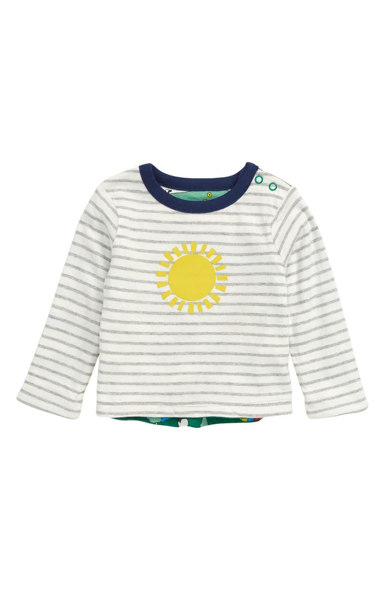 MINI BODEN Reversible Long Sleeve T-Shirt, Main, color, 786