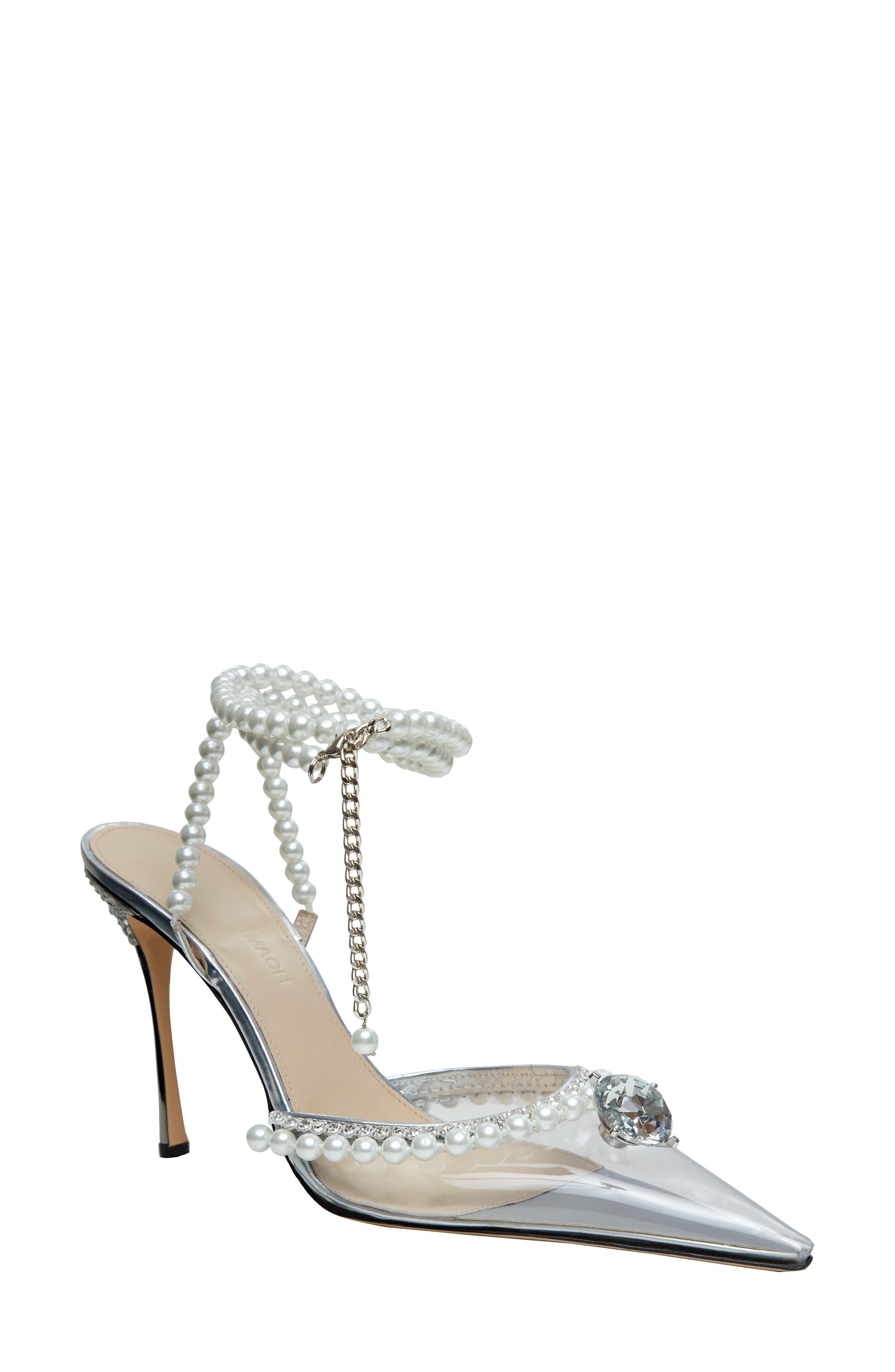 Diamond Of Elizabeth Imitation Pearl Pointed Toe Pump