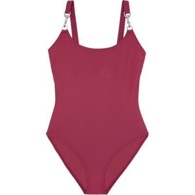 Tory Burch Clip Tank One-Piece Swimsuit