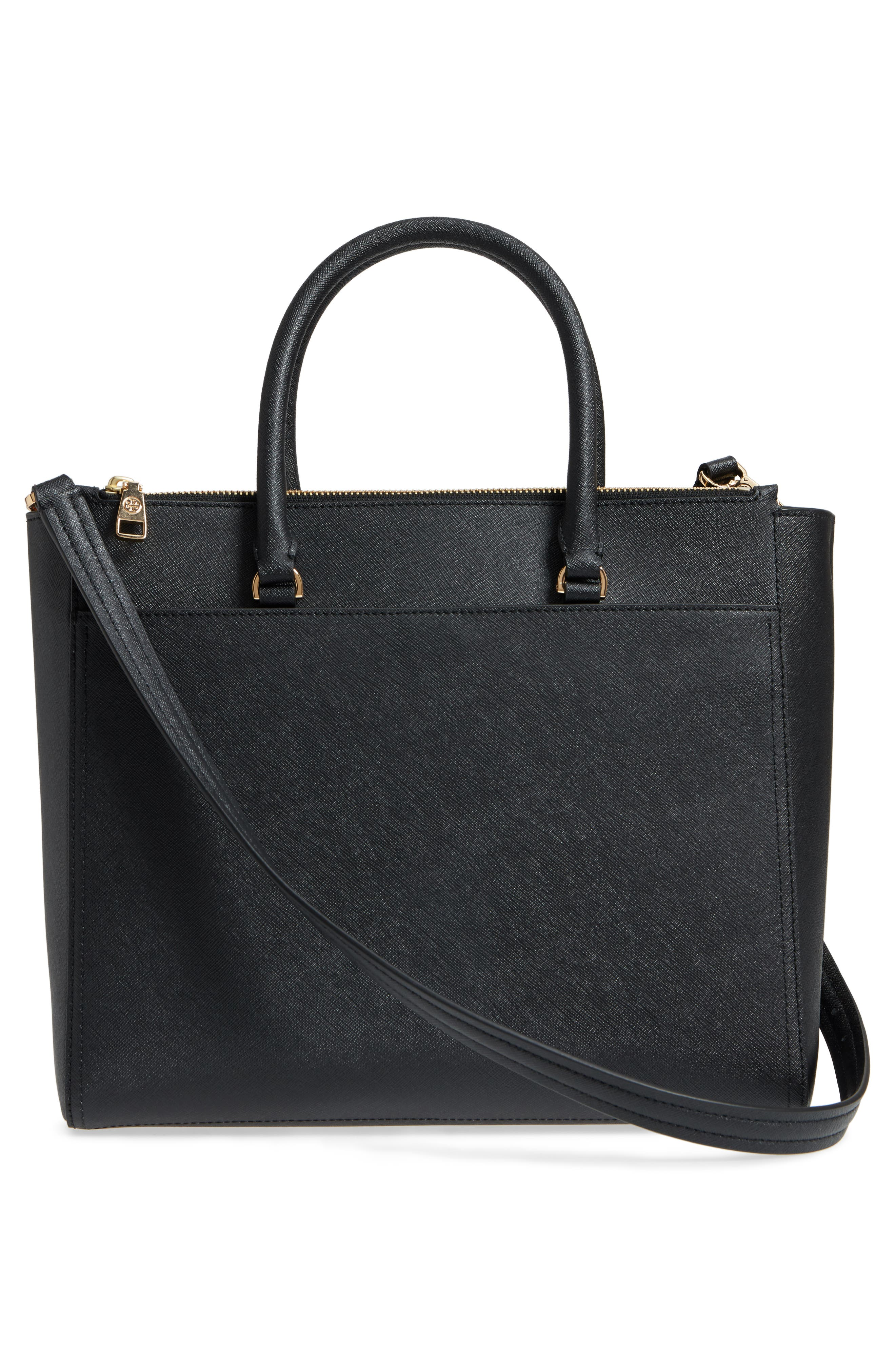 ,                             Robinson Double-Zip Leather Tote,                             Alternate thumbnail 3, color,                             018