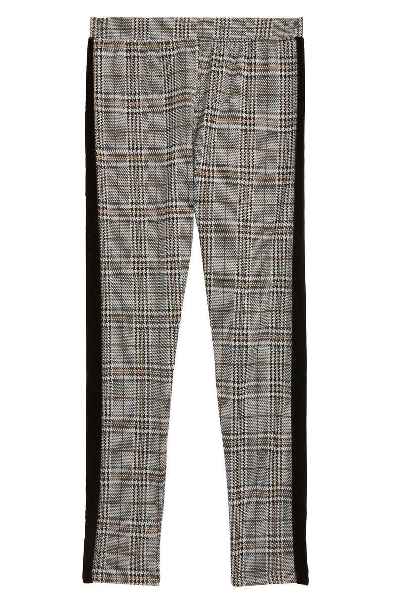 TREASURE & BOND Plaid Skinny Pants, Main, color, GREY- IVORY PLAID