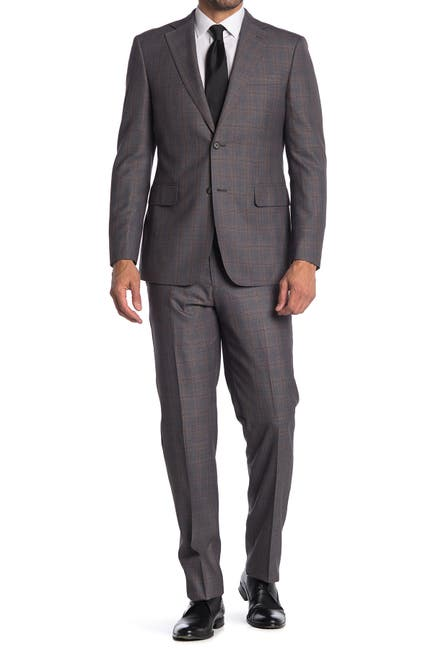 Image of English Laundry Windowpane Two Button Notch Collar Suit