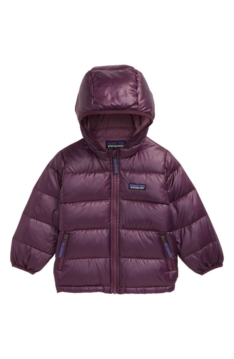 PATAGONIA Hi-Loft Water Repellent 600 Fill Power Down Recycled Sweater Hoodie, Main, color, DPM DEEP PLUM