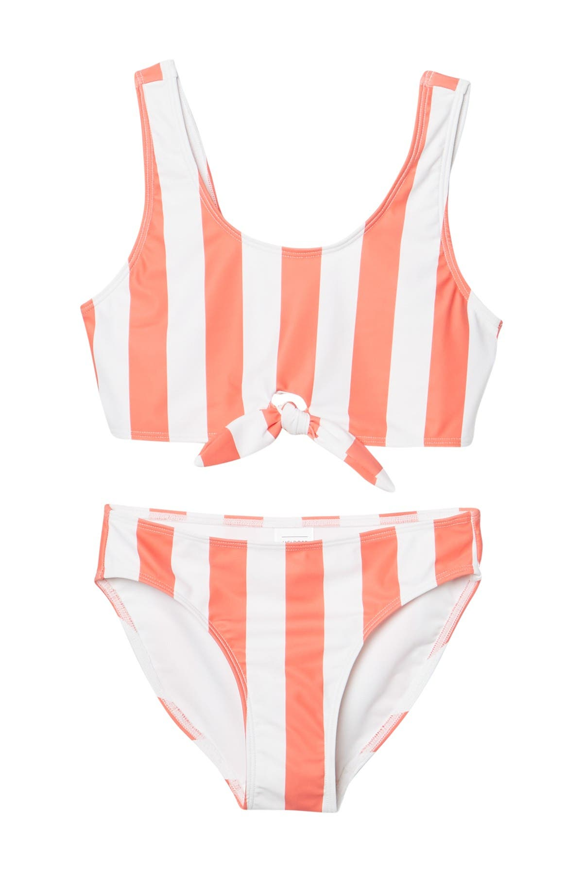 Image of Melrose and Market Stripe Tie Front 2-Piece Bikini Set