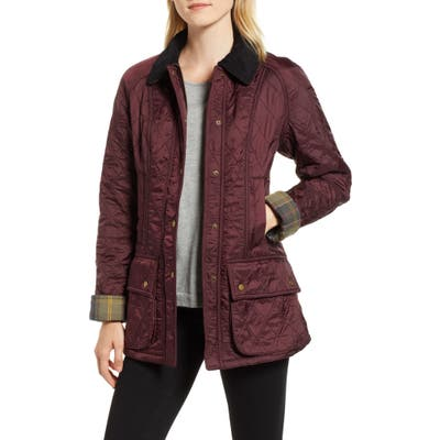 Barbour Beadnell Quilted Jacket, US / 16 UK - Burgundy