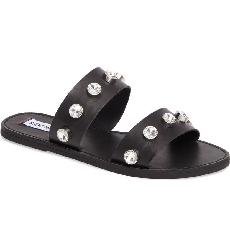 STEVE MADDEN Jessy Embellished Slide Sandal, Main, color, 001