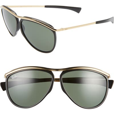 Ray-Ban 5m Aviator Sunglasses - Gold Black/ Green Solid