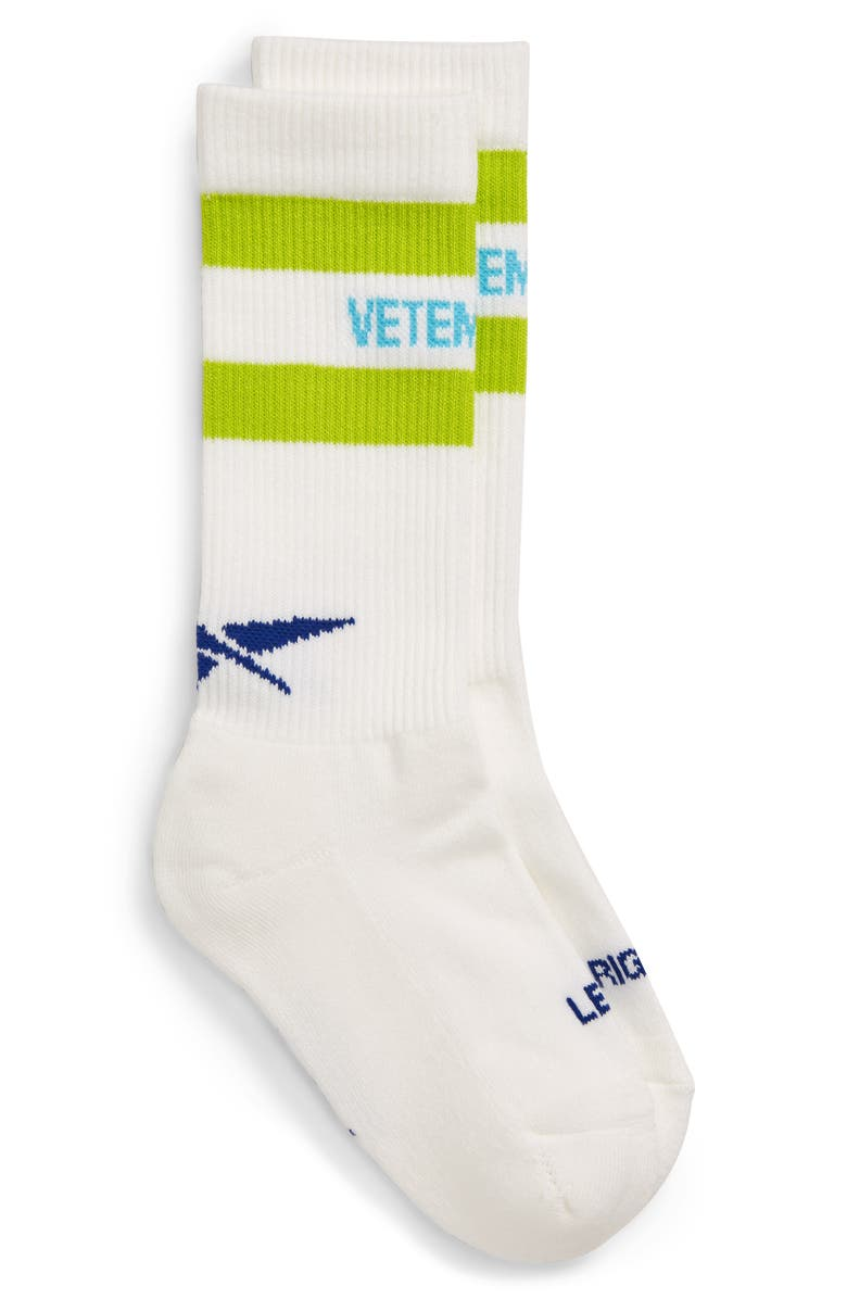 VETEMENTS New Classic Crew Socks, Main, color, WHITE