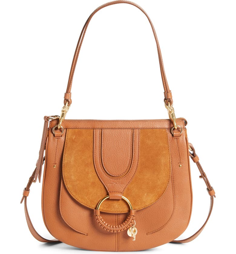 SEE BY CHLOÉ Hana Leather Hobo Bag, Main, color, 200