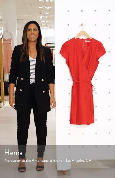 Rodin Linen Wrap Dress, sales video thumbnail