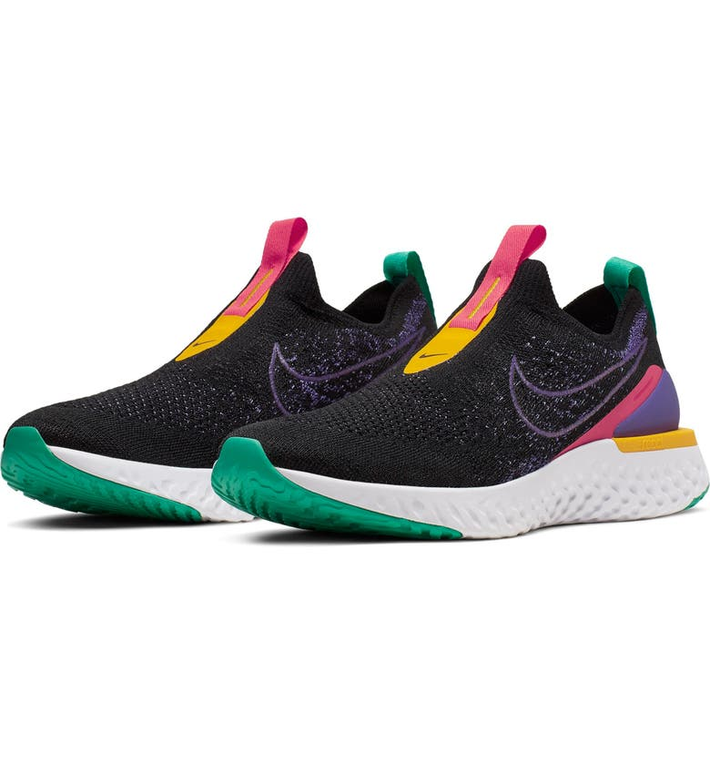 NIKE Epic Phantom React Flyknit Running Shoe, Main, color, 001