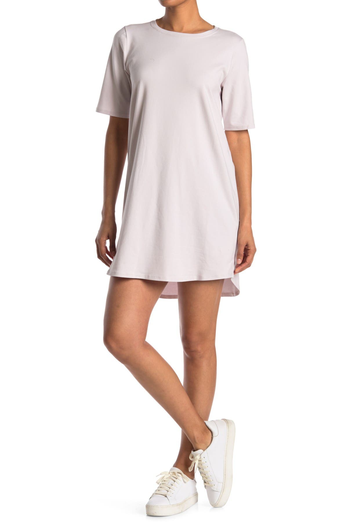 Image of Eileen Fisher Crew Neck Short Sleeve T-Shirt Dress