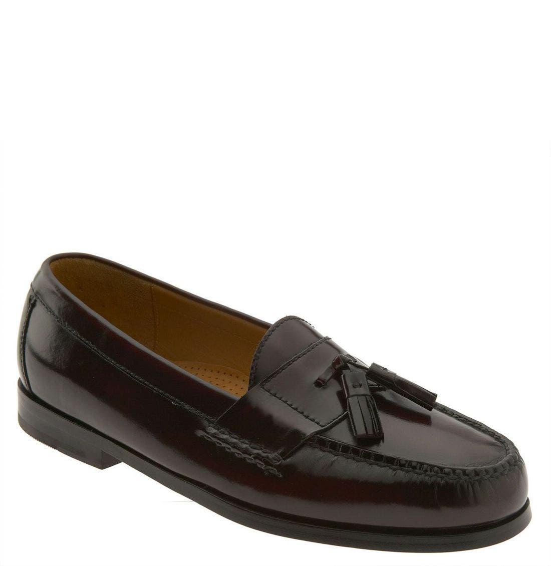 'Pinch' Tassel Loafer, Main, color, BURGUNDY