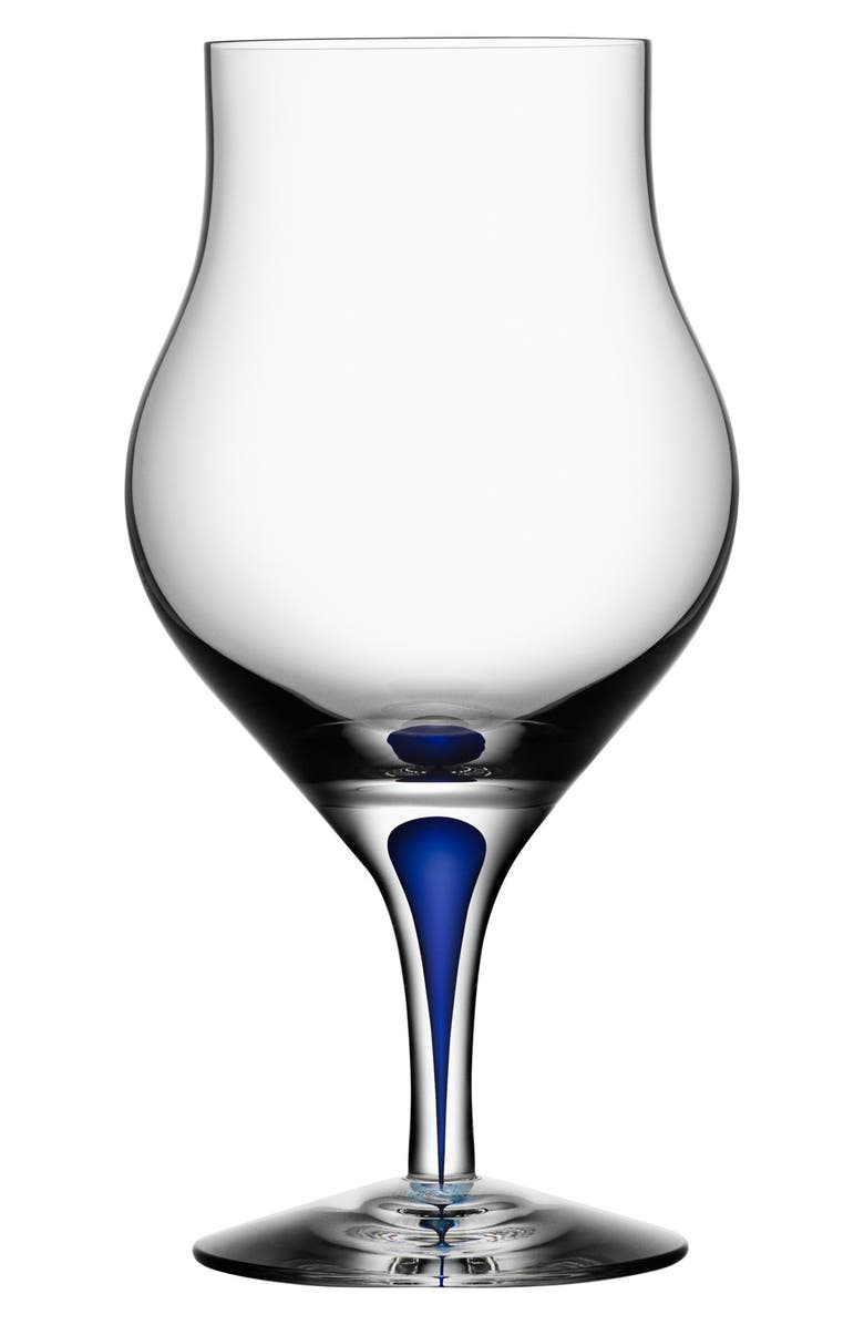 ORREFORS 'Intermezzo' Snifter, Main, color, CLEAR/ BLUE
