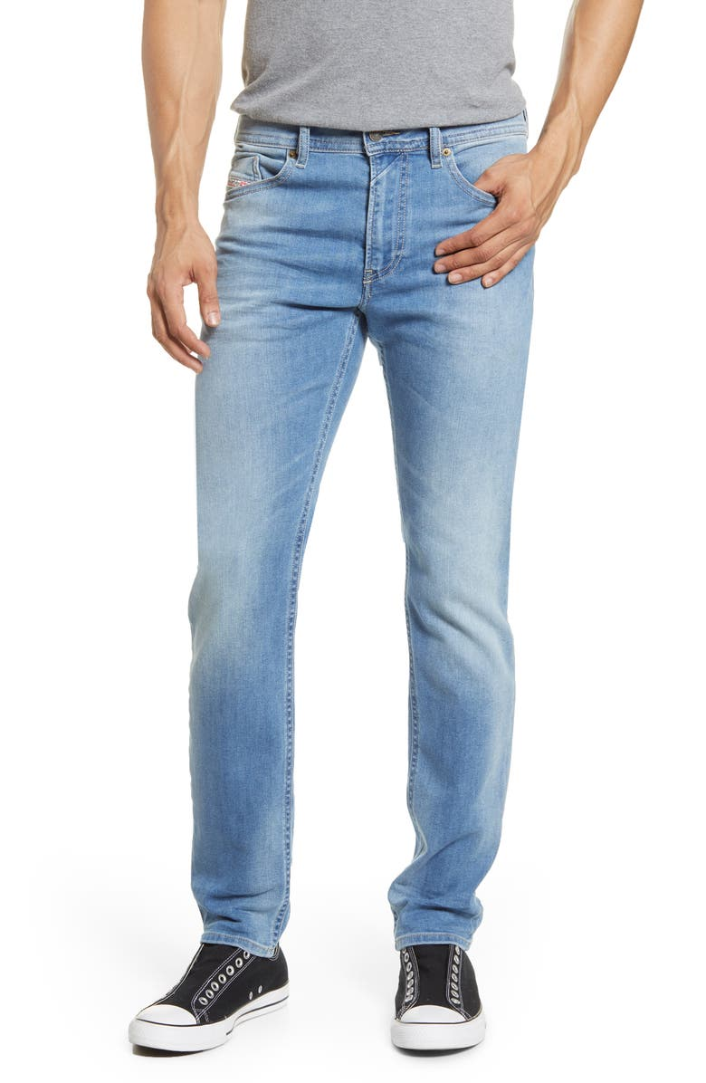 DIESEL<SUP>®</SUP> Thommer Extra Slim Fit Jeans, Main, color, LIGHT BLUE