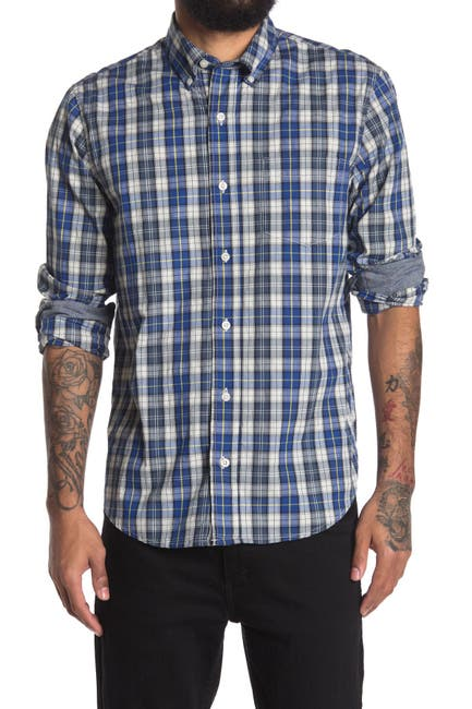 Image of Tailor Vintage Performance Plaid Print Stretch Classic Fit Shirt