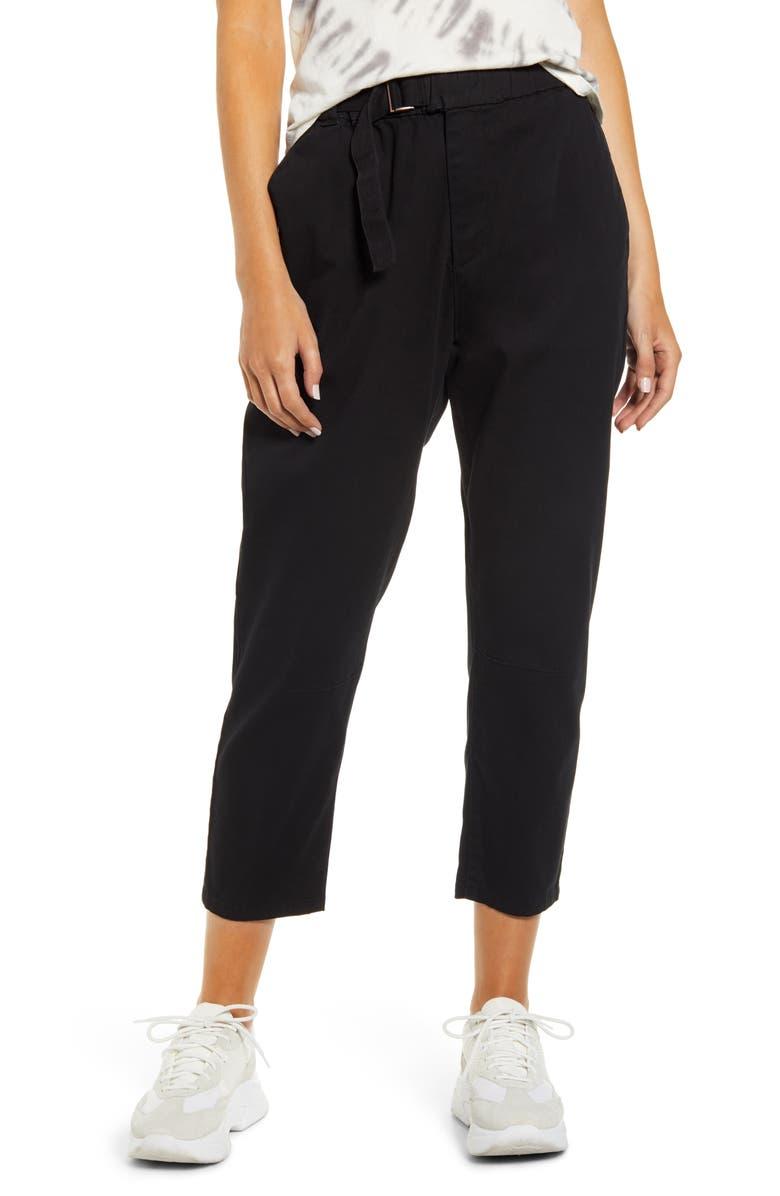 UNIONBAY Crop Skater Pants, Main, color, BLACK