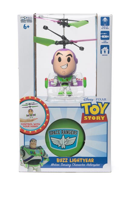 Image of World Tech Toys Pixar Toy Story Buzz Lightyear 3.5 Inch Flying Character Helicopter
