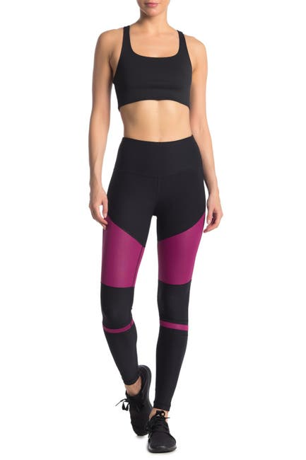 Image of 90 Degree By Reflex Colorblock High Waist Leggings