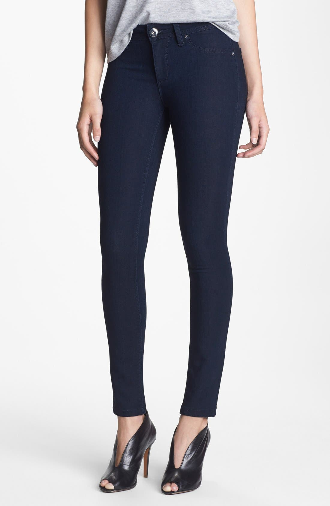Image of DL1961 Emma Solid Low Rise Skinny Jeans