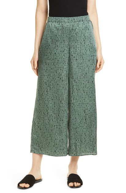 Eileen Fisher Pants WIDE-LEG CROP SILK BLEND PANTS