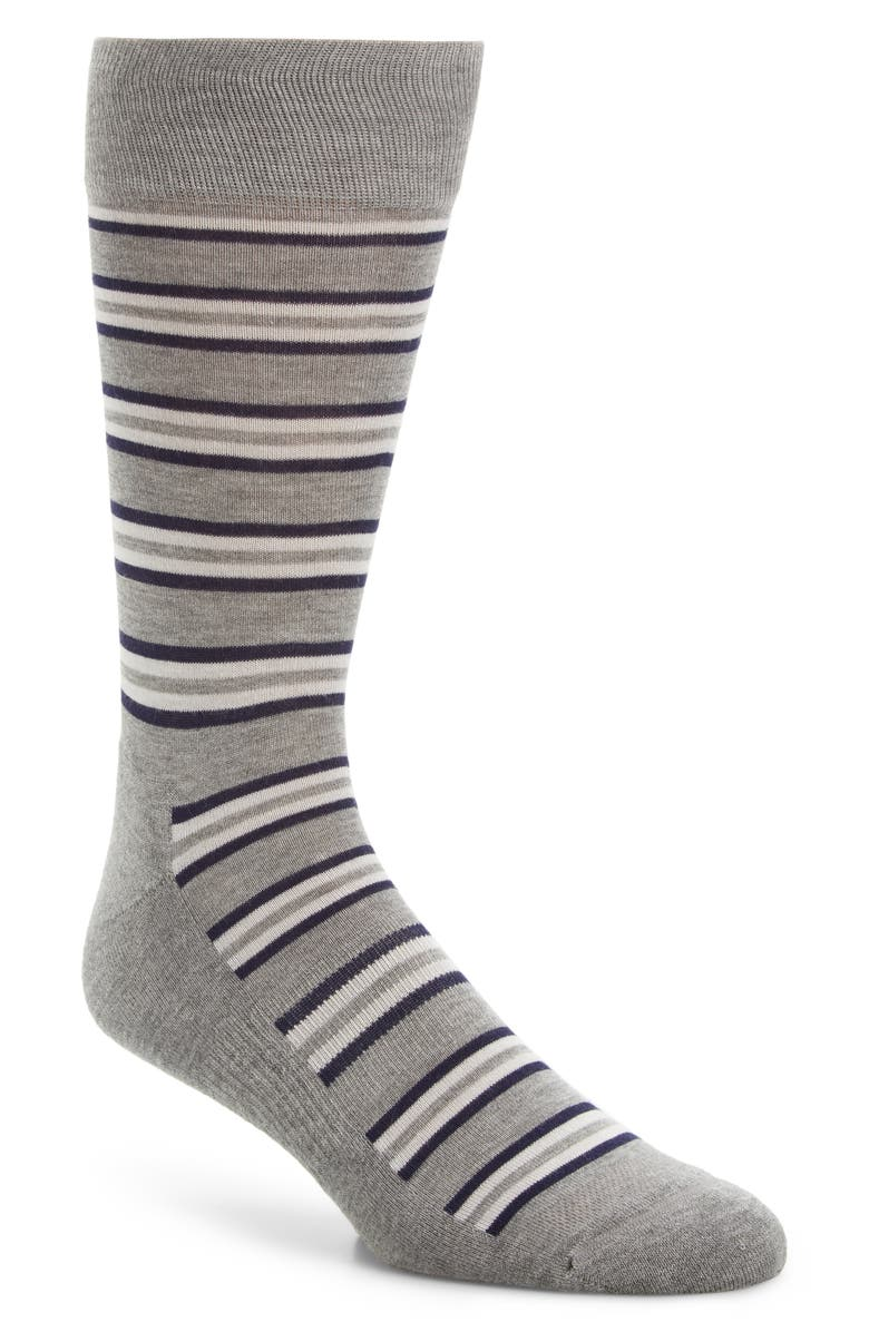 NORDSTROM MEN'S SHOP Stripe Socks, Main, color, 030