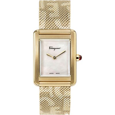 Salvatore Ferragamo Portrait Mesh Strap Watch, 2m Mm