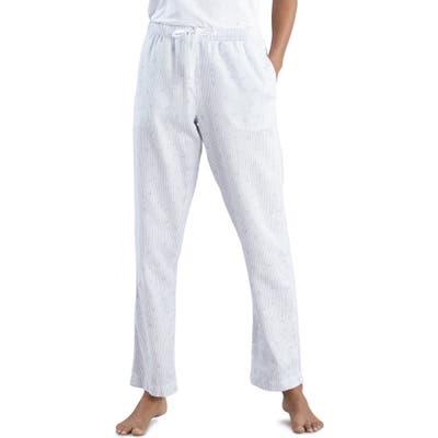The White Company Leaf Print Flannel Pajama Pants, White