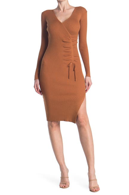 Image of Jealous Tomato Ruche Rib Knit Dress