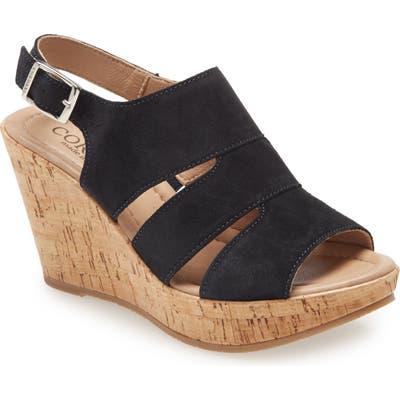 Cordani Rosie Platform Wedge Sandal, Blue