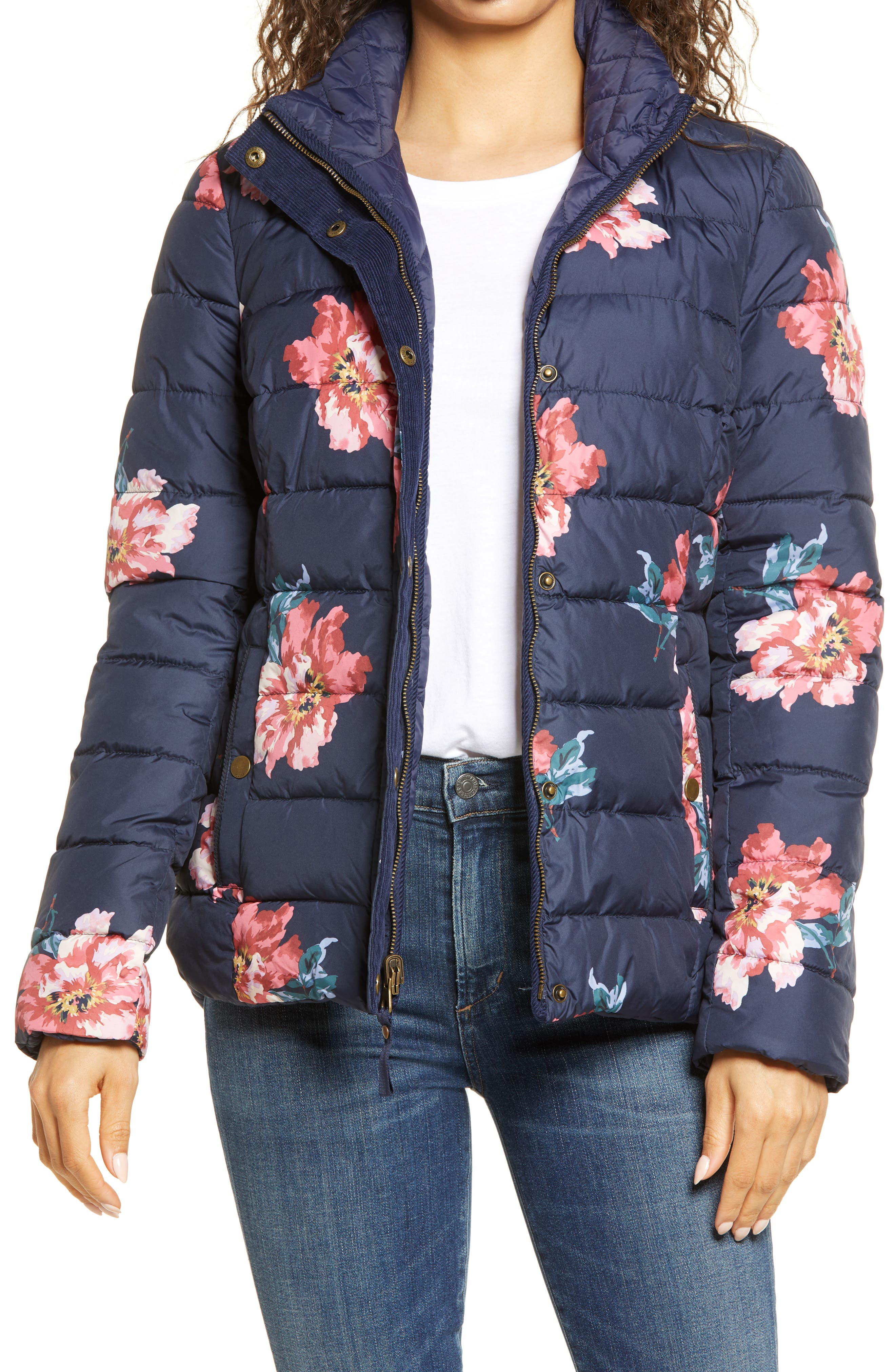 Highgrove Reversible Quilted Floral Puffer Jacket