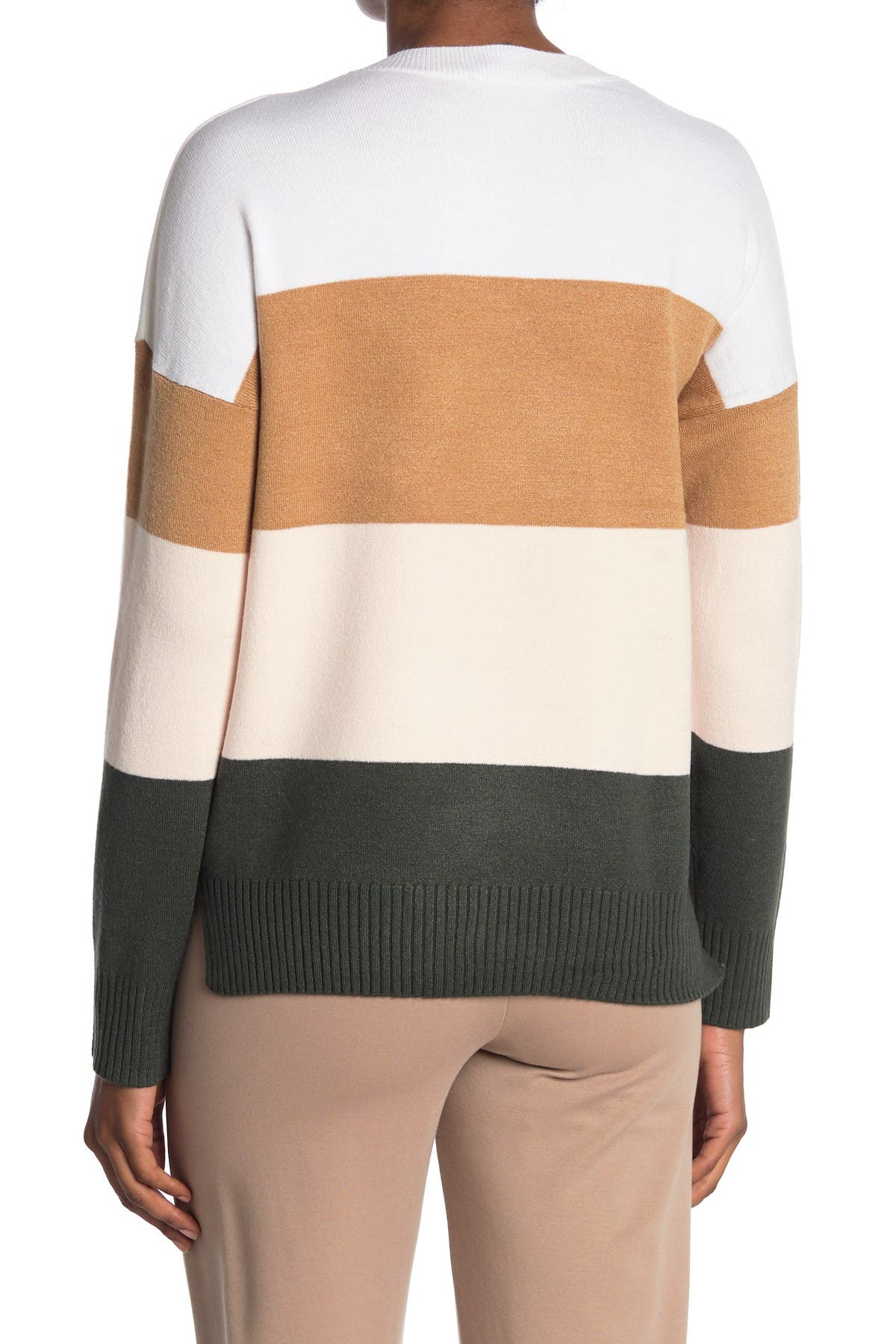 Image of French Connection Striped Crew Neck Sweater