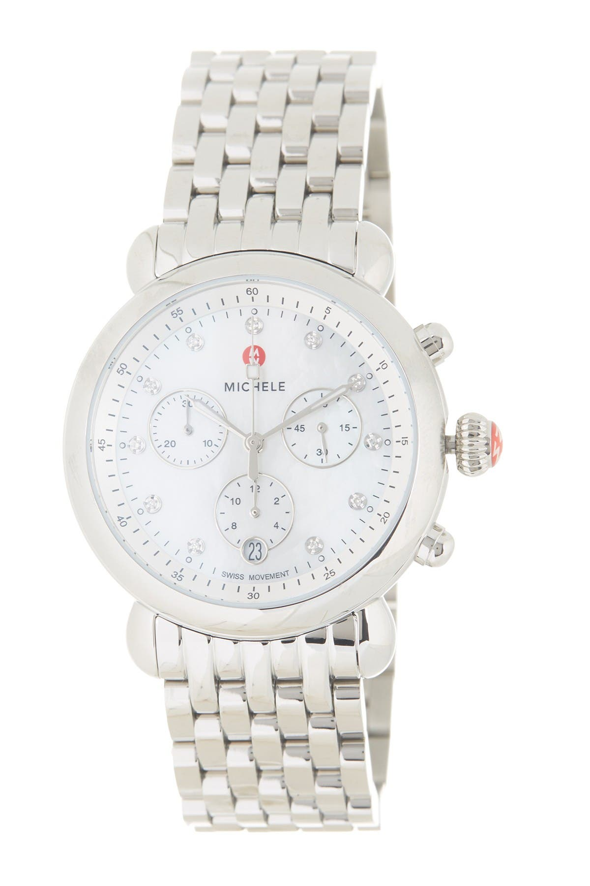Image of Michele Women's CSX Diamond Embellished Bracelet Watch, 38mm