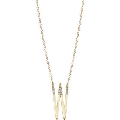 Bony Levy Kiera 18K Gold & Diamond Initial Pendant Necklace (Nordstrom Exclusive)