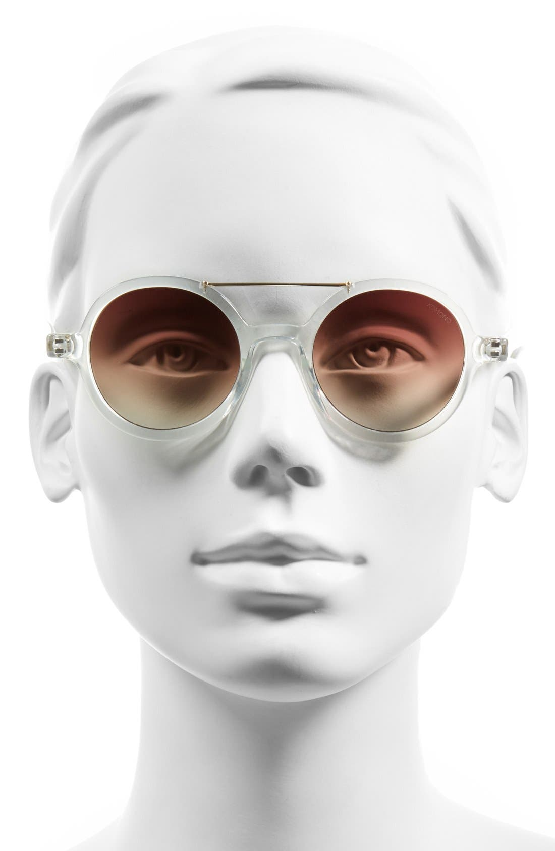 ,                             'Vivien' Round Lens Sunglasses,                             Alternate thumbnail 4, color,                             100