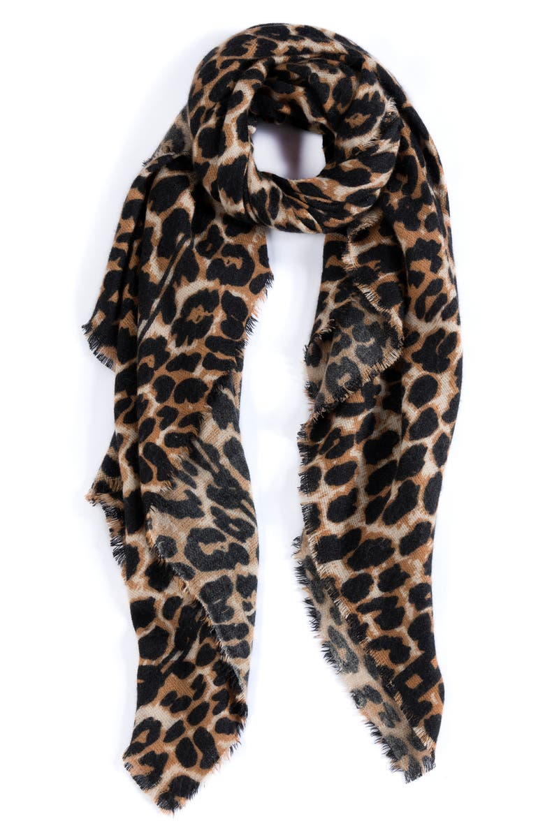SHIRALEAH Catalina Leopard Scarf, Main, color, 200