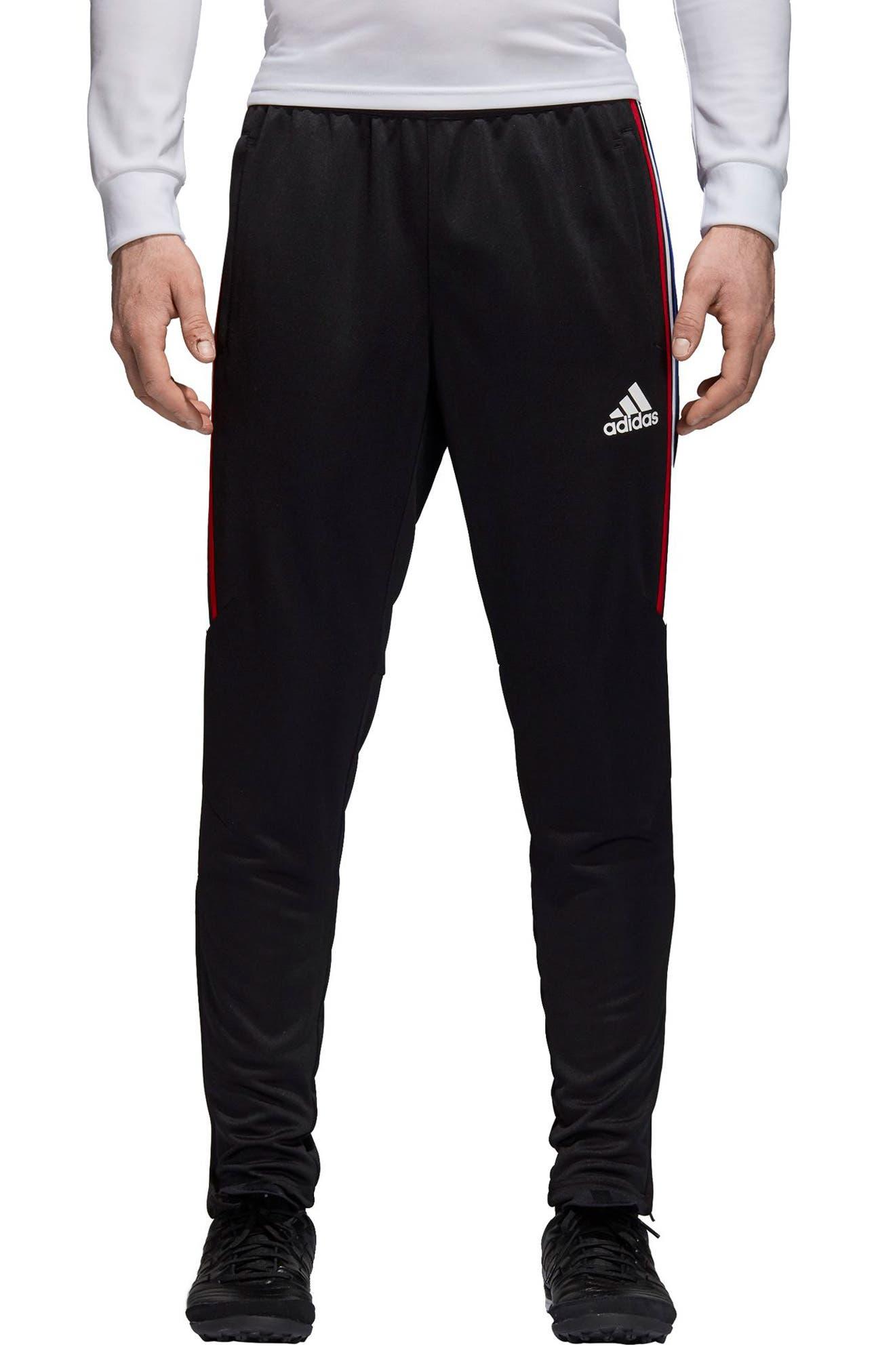,                             Tiro 17 Regular Fit Training Pants,                             Main thumbnail 1, color,                             BLACK/ RED/ WHITE/ BLUE