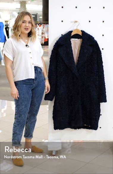 Faux Shearling Cocoon Coat, sales video thumbnail