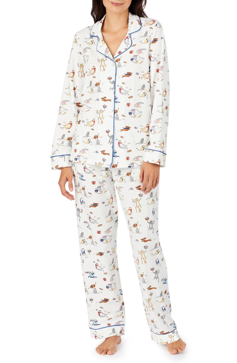 BEDHEAD PAJAMAS Long Sleeve Print Pajamas, Main, color, 100